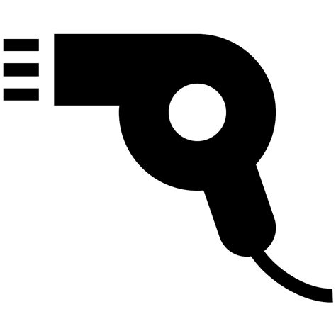 Hair Dryer Vector Free hair dryer hairdryer svg png icon free 355336