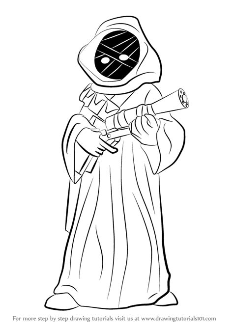 jawa coloring pages learn how to draw jawa from wars wars step by