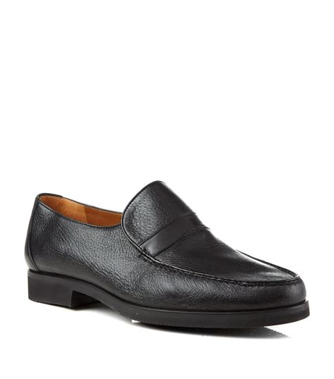 wide fit loafers stemar leather wide fit loafer in black for lyst