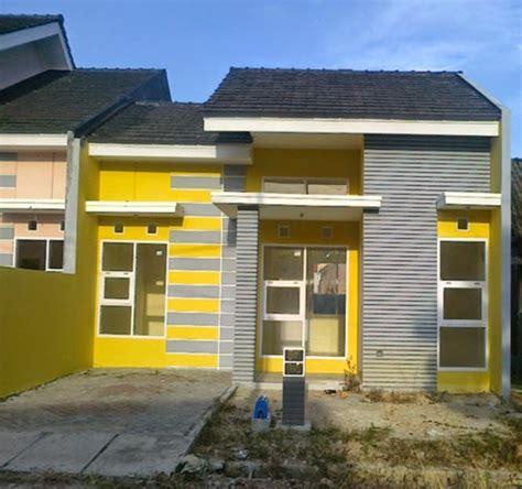 foto rumah minimalis cat warna kuning kombinasi rumah