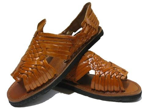 mexican huarache sandals genuine leather brown mexican huaraches flip flop slip