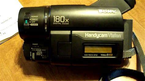 cassette videocamera sony ccd trv16 hi8 8mm handycam camcorder
