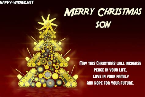 christmas wishes  son