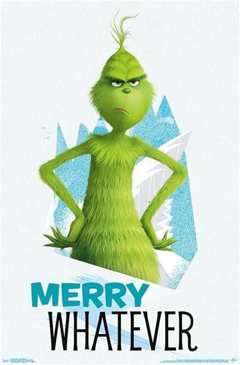grinch poster merry   large wall print