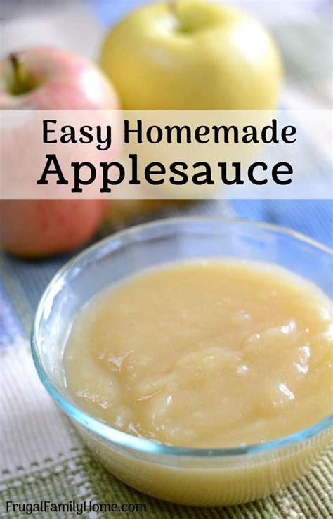 homemade applesauce recipe dishmaps