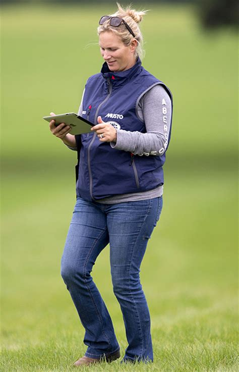 Zahra Skincare Day zara phillips was at the moreton trials in