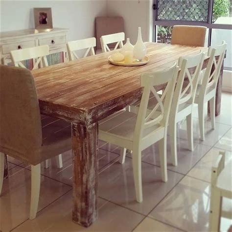 Upcycled Dining Room Table Best 25 Pallet Dining Tables Ideas On
