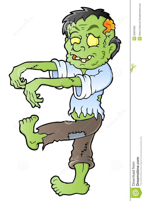 cartoon themes vector cartoon zombie theme image 1 stock vector illustration