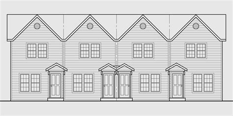 townhouse plans narrow lot triplex house plans 4 plex plans quadplex plans