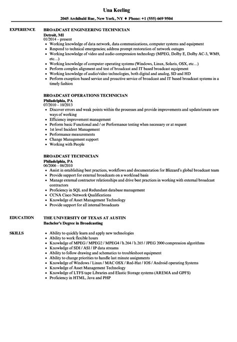 Broadcast Technician Resume Sle awesome best practice resume exles images exle resume ideas alingari