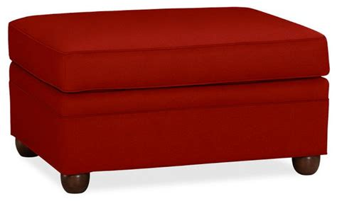 red fabric ottoman chesterfield ottoman sierra red twill contemporary