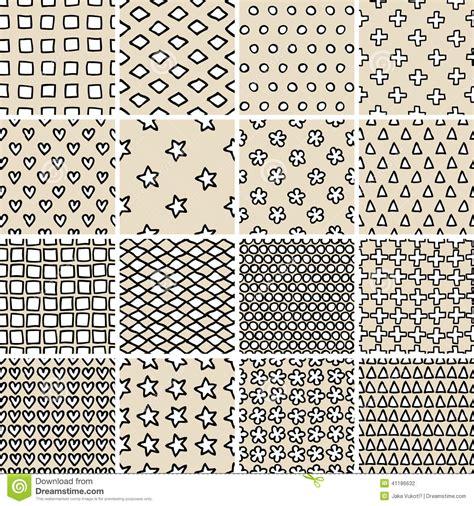 basic doodle basic doodle seamless pattern set no 9 in black and white