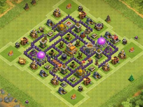 th7 base layout 10 best th7 base town hall 7 layouts coc top hybrid