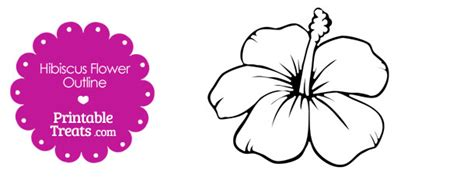 printable hibiscus flowers printable hibiscus flower outline printable treats com
