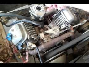 16hp briggs amp stratton vanguard vtwin bad carb youtube