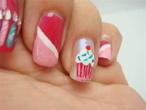 all nail and cosmetics birthday cupcake nails