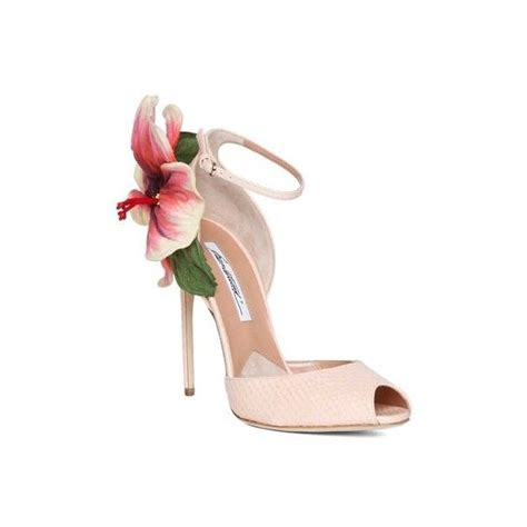 flower shoes brian atwood oriana shoes with flower detail 958