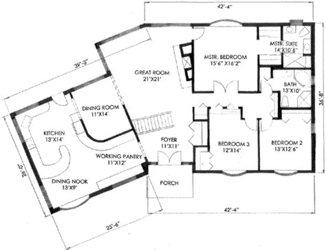 2400 sq ft ranch style house plan 3 beds 2 00 baths 2400 sq ft plan