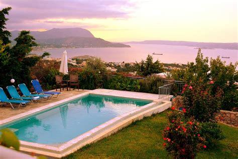 Villa Swimming Pool View Villen Zur Miete In Bay View Villa I In Crete With Swimming Pool Villen Zur