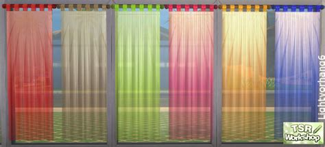 Short Curtains For Bedroom sheer curtains by christine1000 at tsr 187 sims 4 updates