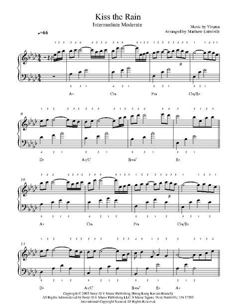 tutorial piano kiss the rain kiss the rain piano tutorial gallery any tutorial exles