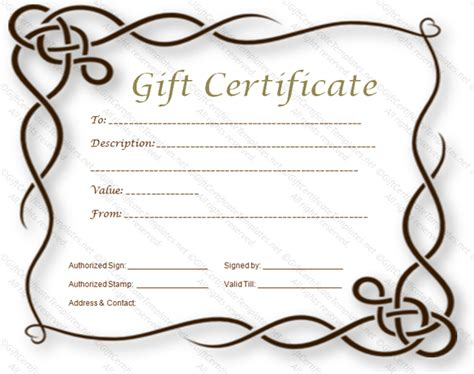 page gift certificate template 8 best images of certificate border templates