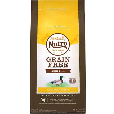 nutro grain free food nutro choice grain free duck potato cat
