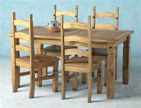 Mexican Pine Dining Table And 6 Chairs Dining Table Mexican Pine Dining Table Chairs