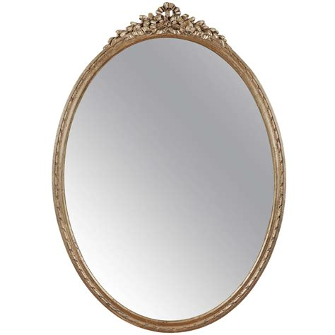 oblong bathroom mirrors louis xvi style gilded wooden oval mirror at 1stdibs