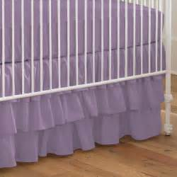 solid aubergine purple crib skirt three tier carousel designs