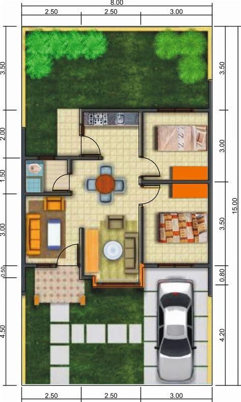 contoh denah rumah minimalis sederhana renovasi rumahnet