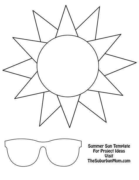 template of the sun countdown to summer craft template thesuburbanmom