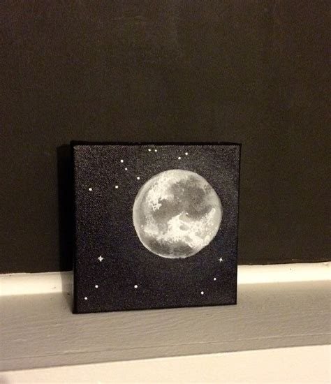 Moon Decor by Moon And Acrylic Painting 6 215 6 Inches Home
