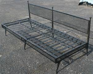 Wrought Iron Daybed Midcentury Retro Style Modern Architectural Vintage Furniture From Metroretro And Mcm Consignment