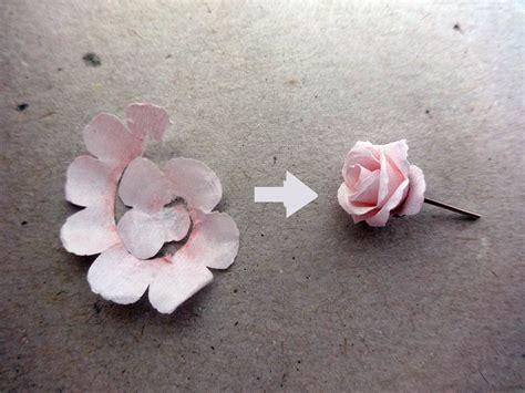 paper quilled flower earrings tutorial rose earring studs from paper diy jewlery pinterest