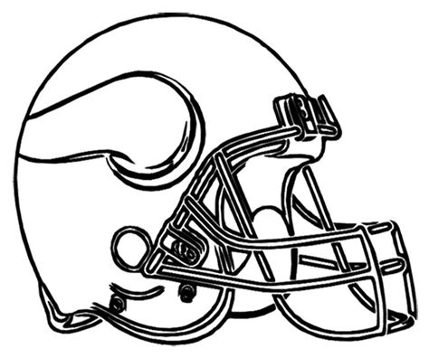 super coloring pages nfl minnesota vikings football helmet coloring page football