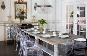 acrylic dining chairs eclectic dining room flax design michonne acrylic legs rectangular dining room set 122151