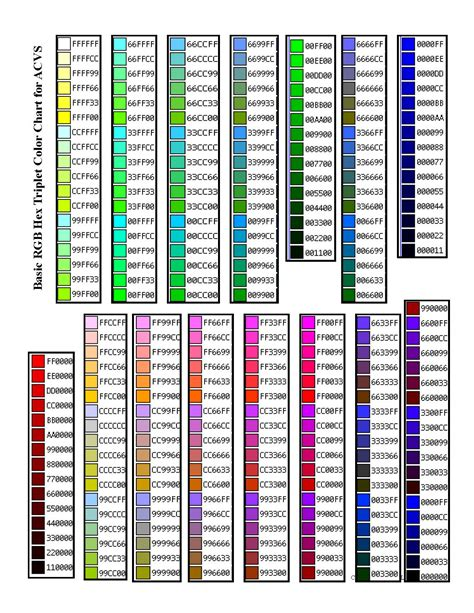 hex color to rgb rgb hex triplet color chart mindmachines