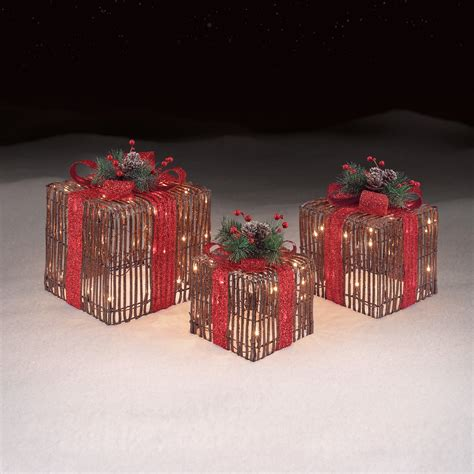 roebuck co grapevine gift boxes set of 3 outdoor