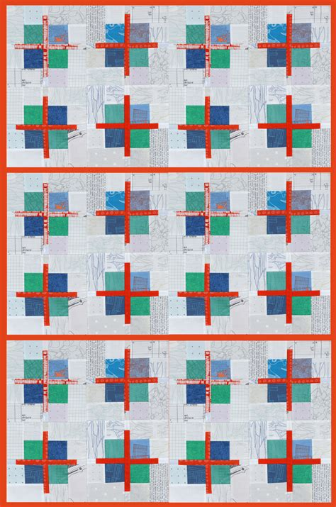 Patchwork Squares Patterns - scrappy cross patchwork block tutorial bonjour quilts