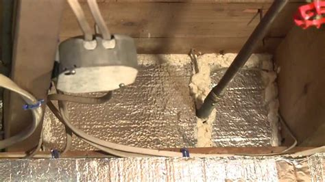 Basement Floor Sealing - insulating a rim joist with silverglo youtube
