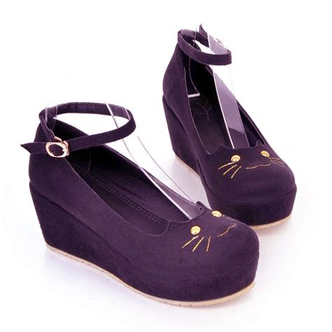 cat design doll shoes cute cat head doll shoes 183 cute kawaii harajuku fashion