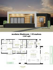 contemporary home design plans modern 2 bedroom house plan 61custom contemporary