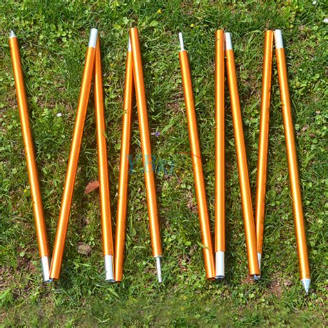 tent awning poles 5 sections tarp shelter canopy tent awning support rod