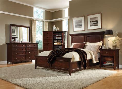 ellsworth  piece queen bedroom set cherry levin furniture