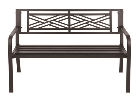 menards work bench backyard creations steel crossway bench at menards 174