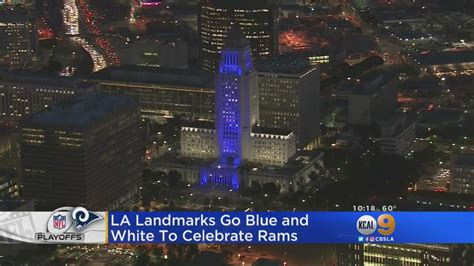 what city are the rams from city is awash in blue and white for the rams