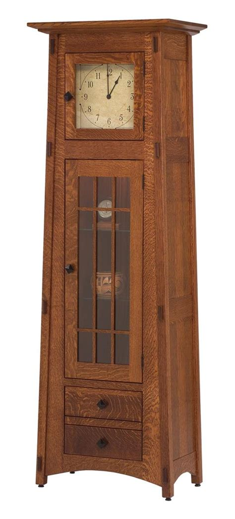 mission style keystone hutch dutchcrafters amish furniture mission style clock cabinet from dutchcrafters amish furniture
