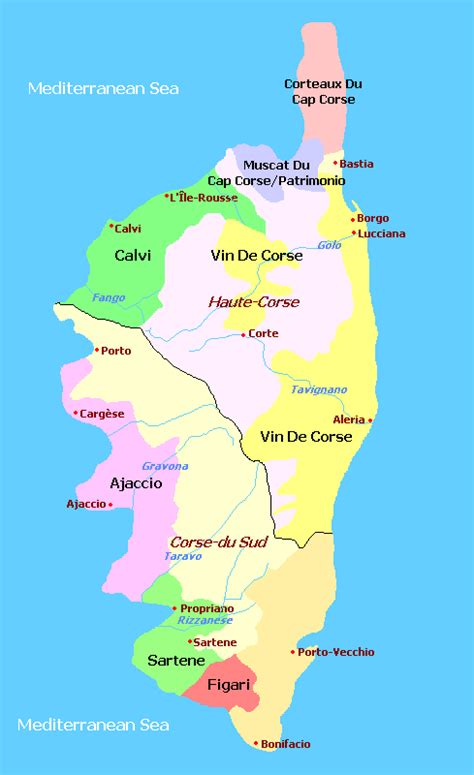 corsica map map corsica