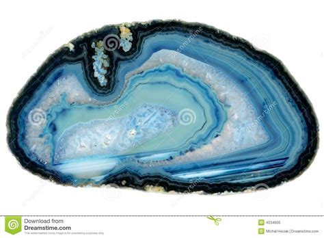Light Blue Gem Blue Agate Crystal Stone Royalty Free Stock Photo Image